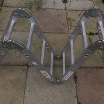 4 Section Aluminium Alloy Folding Ladder-3M