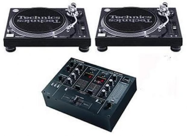 2x Technics 1210 Turntables And the Pioneer DJM 300 Mixer-slide-2