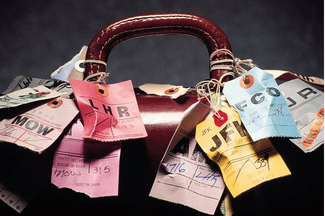 Upcycled and eco-friendly luggage tags