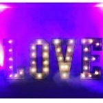 Rustic 4ft Light Up LOVE Letters