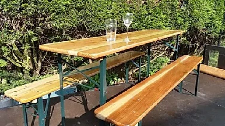 Wooden Bench/Table Set for Hire-slide-1