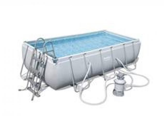 Steel Rectangular Frame Pool For Hire (Sand Filter Pump, Ladder)-slide-1