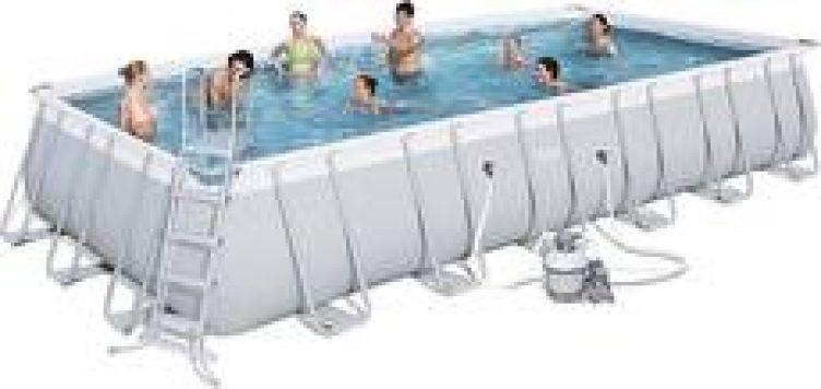 24 x 12 ft Steel Rectangular Frame Pool  for Hire-slide-1