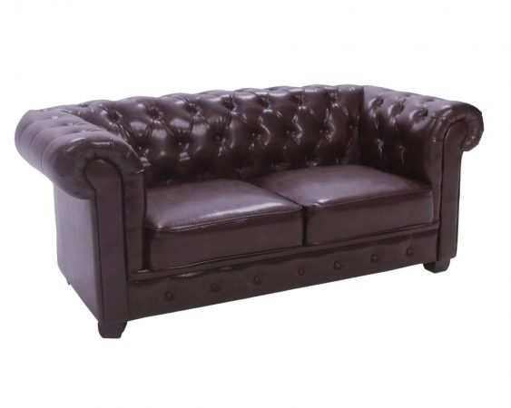 Chesterfield Sofa – Two Seater (Antique Brown)-slide-1