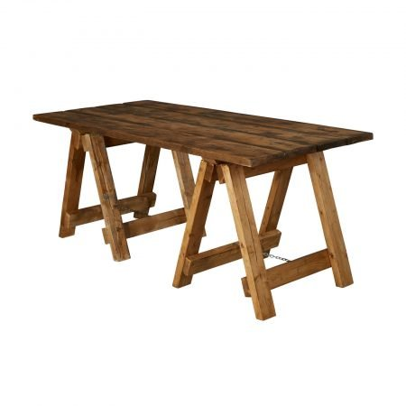 Rustic Trestle Table-slide-1