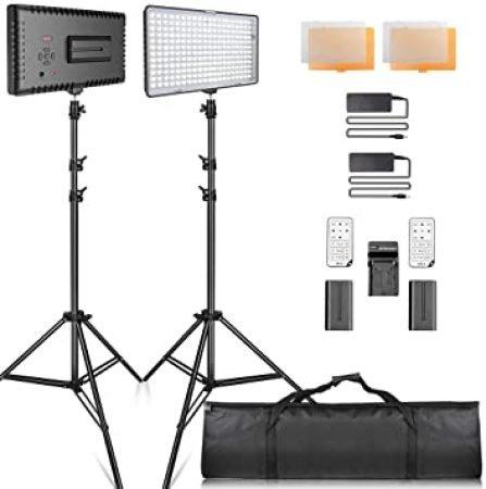 SAMTIAN 160 LED Studio Video Lighting Kit-slide-1