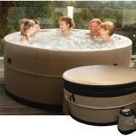 Semi – Solid Hot tub hire:  Jura (4 ~ 6 Adult Capacity)