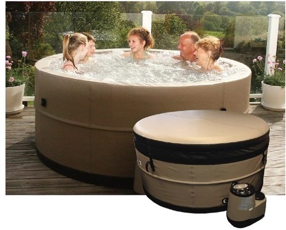 Semi – Solid Hot tub hire:  Jura (4 ~ 6 Adult Capacity)-slide-1