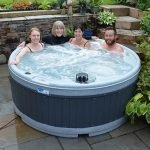 Solid fiberglass Hot tub hire with moulded seats (Skye)