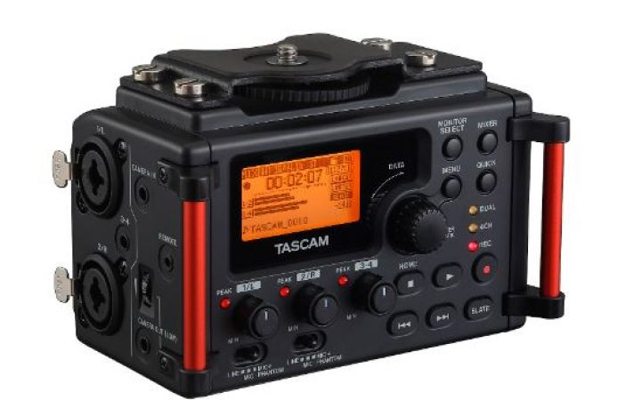 Tascam DR-60DMKII 4-Track Audio Recorder for DSLR Cameras-slide-1