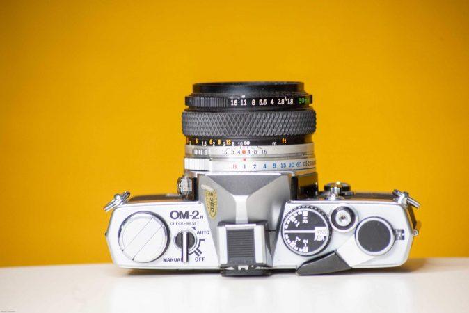 Vintage Hire – Olympus OM-2n 35mm Film Camera with Film-slide-1