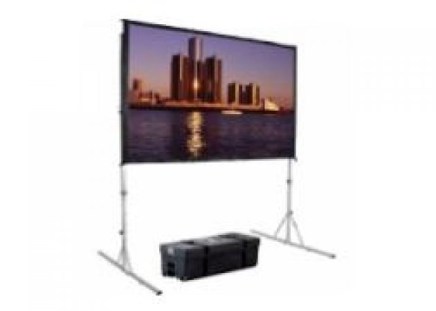 8'x4.5' Fastfold Widescreen Front projection Screen for Hire-slide-1