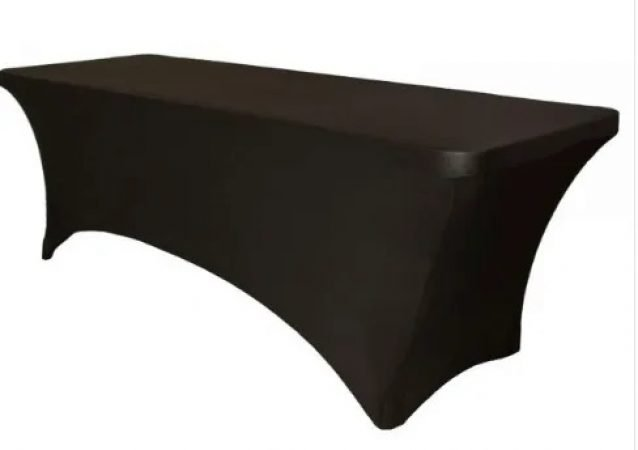 Black white stretch table covers-slide-1