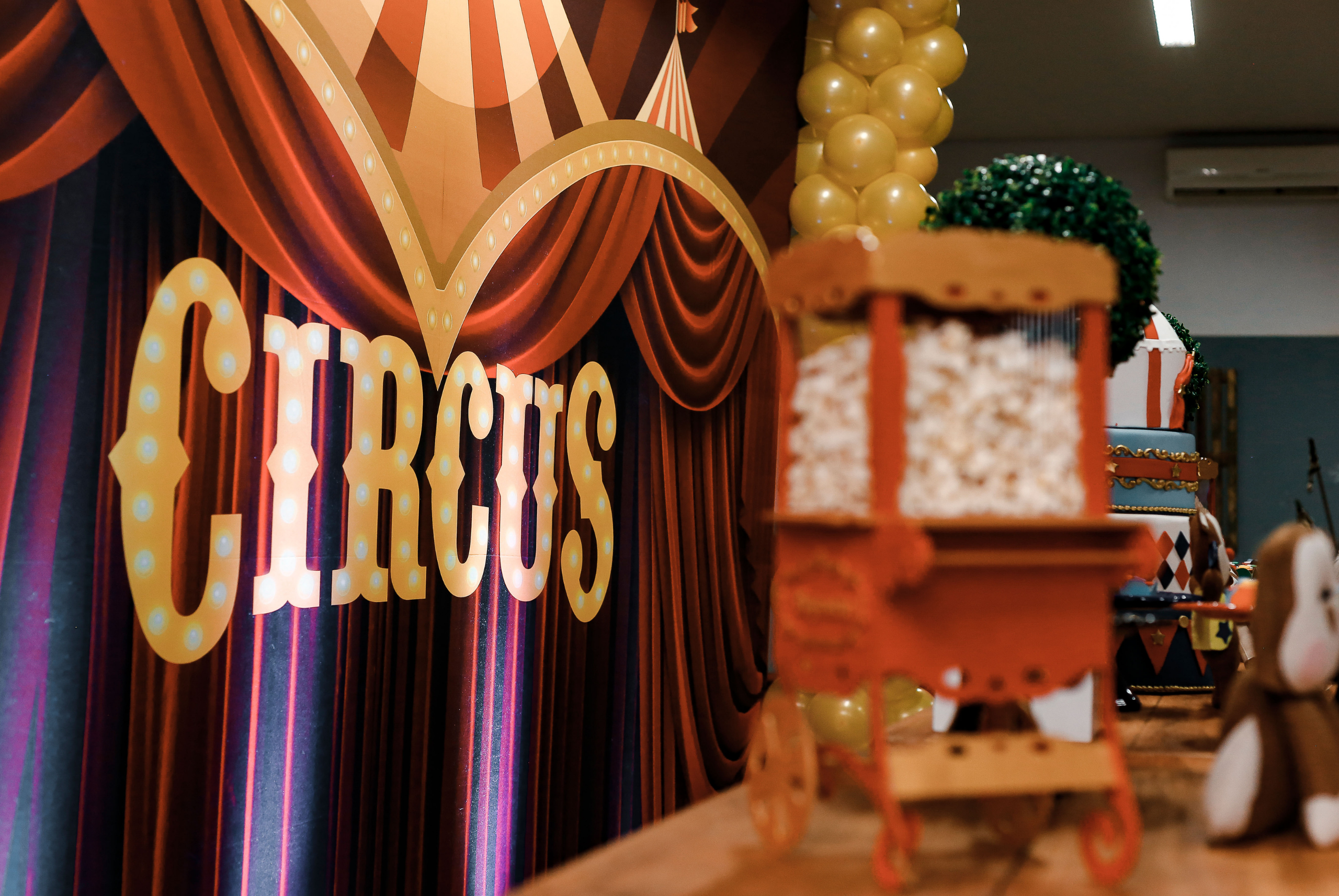 Circus themed party props