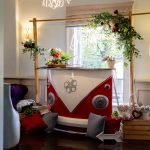 Barnaby Camper Pop-up Indoor campervan glitter mobile bar hire London