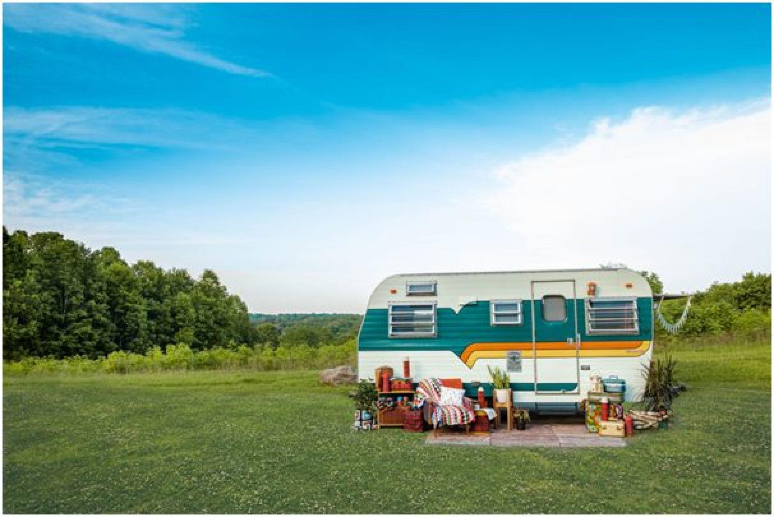 campervan in a field