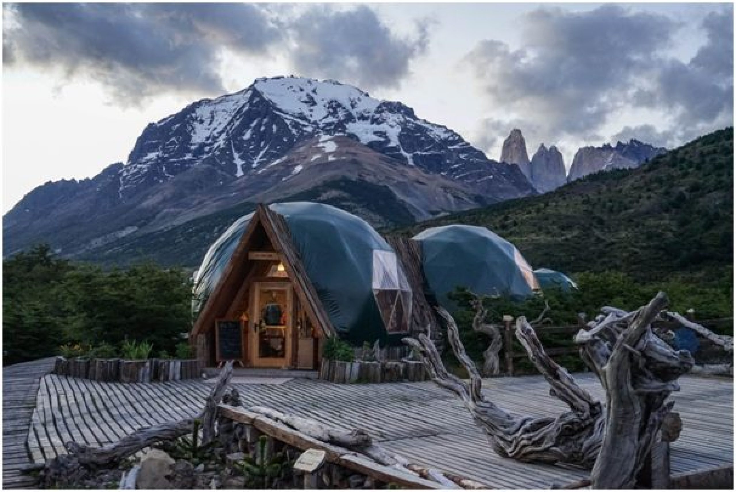 glamping cabin in the mountains